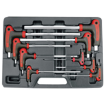 Astro Pneumatic 1027 - 9pc. T-4 Handle Hex Key SAE Wrench Set