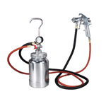 Astro Pneumatic 2PG8S - 2 Quart Pressure Pot with Silver Gun and Hose