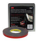 3M Automotive 6382 - Automotive Acrylic Plus Attachment Tape 06382, Black, 1/2