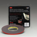 3M Automotive 6386 - Acrylic Plus Attachment Tape, Black, 1/4