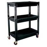 ATD Tools 7017 - Heavy-Duty Plastic 3-Shelf Utility Cart