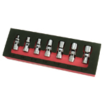 Astro Pneumatic 7407 - 7 Piece 6 Point SAE Flex Socket Set