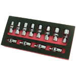 Astro Pneumatic 7412 - 12 Piece 6 Point Metric Flex Socket Set