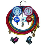 Mastercool 87772G - 2-Way Manifold Gauge Set with 90 degree Snap and Seal Coupler