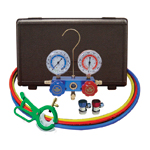 Mastercool  89661-PRO - Automotive R-134a Manifold Gauge Set with FREE 3-in-1 Can Tap Valve