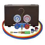 Mastercool 89661-UV - R134a Aluminum Manifold Gauge Kit with Dye Injector