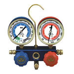 Mastercool 89772 - Manifold 2-Way Gauge Set With Manual Couplers