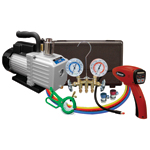 Mastercool 90062-A-KIT - A/C Kit with Vacuum Pump, Leak detector and Gauge Set