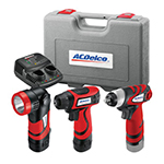 ACDelco ARD847LI - 8V 3-in-1 Cordless Driver/Light/Impact Wrench Combo Kit