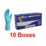Ammex XNPFL 44100  - Medium Xtreme Extra-Long Powder-Free Nitrile Gloves (10 box x 100)