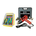ATD Tools 3736COMBO - Dual Temperature Heat Gun Kit with a Heat Shrink Tube Assortment