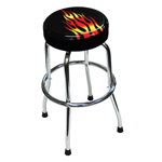 ATD Tools 81056 - Shop Stool with Flame Design