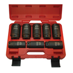 ATD Tools 8628 - 8 Pc. Axle/Spindle Nut Socket Set - 12 Point