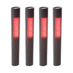 NightStick NSP-1162 - 4-Pack Safety/Flash Light with Red LEDs