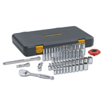 "GearWrench 80300P - 51 pc. 1/4"" Dr. 6 pt. SAE/Metric Socket Set with FREE 12 pc. Metric Flex Socket Set"