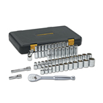 "KD Tools 80700P - 49 pc. 1/2"" Dr. 6 pt. SAE/Metric Socket Set"