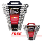 KD Tools 9416D - 16 pc. Metric Combination Ratcheting GearWrench Set with a FREE 13 pc. SAE GearWrench Set