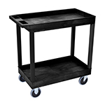 Luxor EC11HD-B - Black 2-Shelf Heavy-Duty Utility Cart