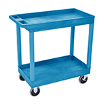 Luxor EC11HD-BU - Blue 2-Shelf Heavy-Duty Utility Cart