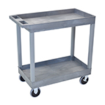 Luxor EC11HD-G - Gray 2-Shelf Heavy-Duty Utility Cart