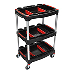 Luxor MC-3 - Mechanics 3-Shelf Utility & Tool Cart
