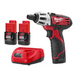 Milwaukee 2401-22 - 12V Cordless Lithium-Ion ScrewDriver/Drill Kit