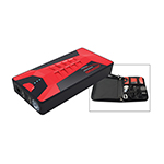 Rockford 8006A - Pocket-Size 7500mAh Battery Charger & Cigarette Lighter - Black/Red