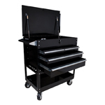 Sunex Tools 8054BK - 4-Drawer Locking Top Black Service Cart