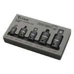 Titan Tools 16150 - 5-Piece Pin-Free Locking Impact U-Joint Adapter Set