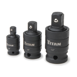 Titan Tools 16151 - 3-Piece Pin-Free Locking Impact U-Joint Adapter Set