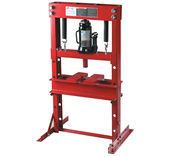 Atd tools 7452 12 ton hydraulic bench press with bottle jack Hydraulic bench press