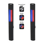 NightStick NSR-2070 - 2-Pack Rechargeable Safety Light / Flashlight (Alternating Red/Blue Floodlight & White Flashlight)