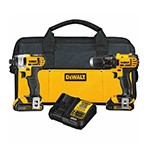 DeWalt DCK280C2 - 20V MAX Compact Cordless Drill, Driver & Impact Driver Combo Kit - Lithium Ion