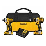 DeWalt DCK281D2 - 20V MAX* XR™ Lithium Ion Brushless Compact Drill / Driver & Impact Driver Combo Kit