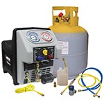 Mastercool 69365 - Twin Turbo AC Recovery Machine with 50-lb DOT Tank for Buses & Fleet Applications