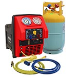 Mastercool 69391 - Spark-Free Twin Turbo CONTAMINATED R1234yf Portable A/C Recovery Unit