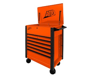 "ATD Tools 70402 - 7-Drawer Flip-Top 35"" Orange Tool Cart"