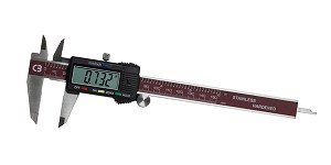"Chicago Brand 50001 - 6"" Electronic Digital Caliper with Hold Memory Function"