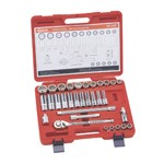"Genius Tools TW-432S - 32 Piece 12-Point SAE Master Hand Socket Set - 1/2"" Drive"