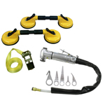 Astro Pneumatic 1760 - Windshield Knife Air Kit with Suction Cups
