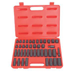 ATD Tools 4601 - 42 pc. Standard & Deep Impact Socket Set