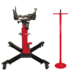 Astro Pneumatic 5075Y - Combo - 1/2 Ton Capacity Telescoping Transmission Jack & 3/4 Ton Under Hoist Stand