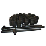 ATD Tools 6405 - 22 pc. 6-Point Deep Impact Socket Set