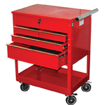 ATD Tools 7045 - Professional 4-Drawer Service Cart, Red