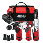 ACDelco ARZ12CSP3 - 12V 3-in-1 Combo Kit (Impact Wrench, Drill & Ratchet)