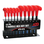 ATD Tools 574 - 10 Pc. T-Handle SAE Hex Key Set
