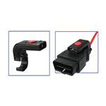 E-Z Red OBD2L - Low Profile, Push Button LED Light for OBD2 Cable