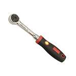 Genius Tools 380372S - 72-Teeth Reversible Ratchet with Rubber Handle - 3/8