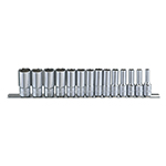 Genius Tools GS-314SD - 14-PC SAE Deep Hand Socket Set - 3/8
