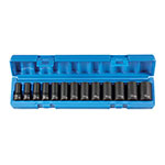Grey Pneumatic 1203MSD - 13-PC 3/8'' Dr Metric Semi–Deep Socket Set - 12-Point